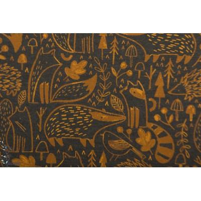 JERSEY WOODLAND ANIMALS brun