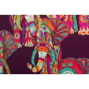 Jersey Viscose Hilco Ethno l'éléphant