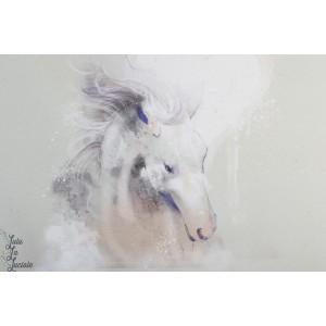 Panneau Summersweat bio Mein Pferd, Mein Freund Lillestoff