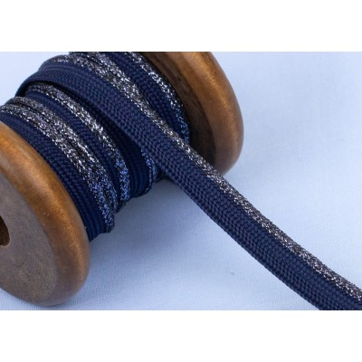 Passepoil Lurex dunkelblau au mètre