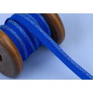 Passepoil Lurex mitelblau au mètre