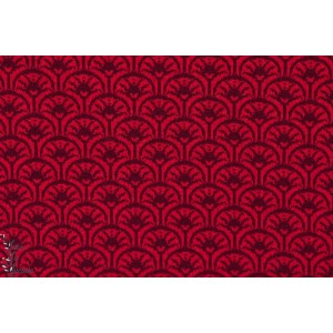 jacquard Rising Sun rouge, daek red