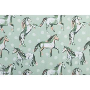 Jersey Bio Josefines Pferde, steingrün Lillestoff