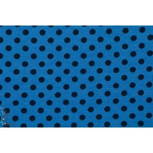 tissu Jeans  strech lillestoff Dotties à pois Bleu