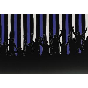 Jersey bordure fans bleu - foot