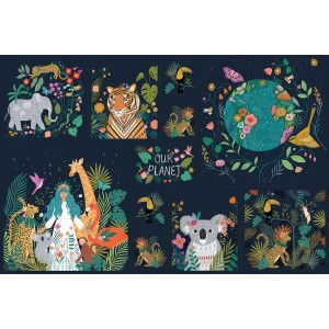 Panneau Popeline Dashwood Our Planet by Bethan Janine PLAN1730