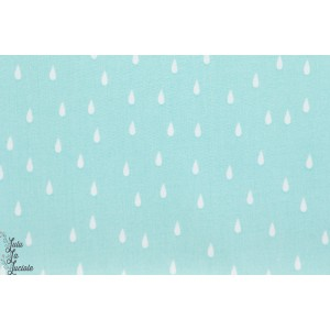 Viscose rayon soft cactus,See You at Six - Drops - Aqua , goutte de pluie