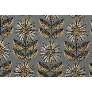 Modal Krysanteemi  viscoe femme léger lillestoff fleur géométrique gris