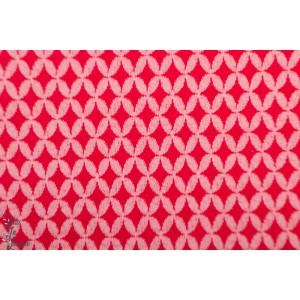 Jacquard Bio SAKURA - 3D Shippou Knit- SAKURA - ALB Stoffe Rouge Rose