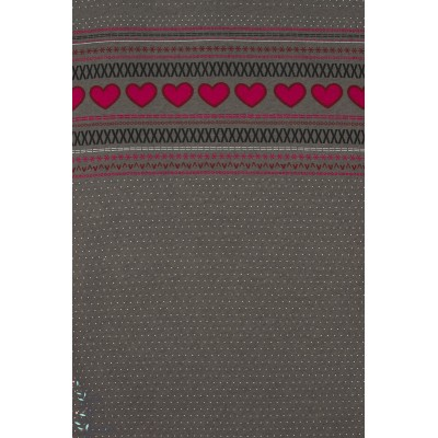 Jersey Laine Nordique gris/Rouge wooljersey lillestoff