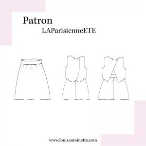 Patron couture  robe mode  La PARISIENNE en ETE louis et antoinette