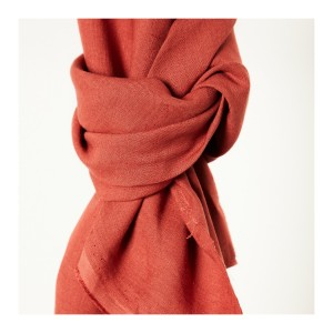 Nisa Softened Linen - Coral Red  Mind The Maker