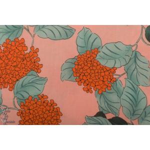 Lady McElroy Hydrangea Blush - Viscose Challis Lawn