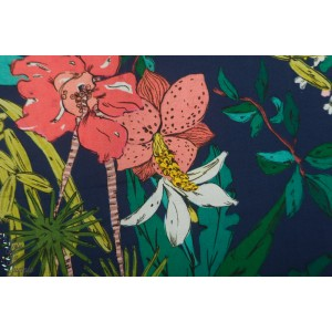 Lady McElroy  Floridian Narciso Navy - Viscose Challis Lawn