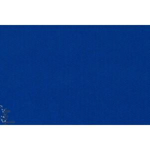 Coton Sergé twill Bleu Cobalt