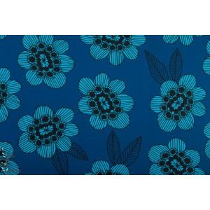 Jersey Gilby Flower Blue Vintage in my heart