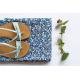 Viscose, rayo See You at Six - Flowers - Bleu, Soft Cactus.
