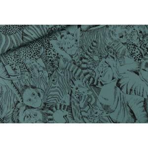 Sweat french terry SYAS Wild Animals -  Bleu de l'Atlantique Nord