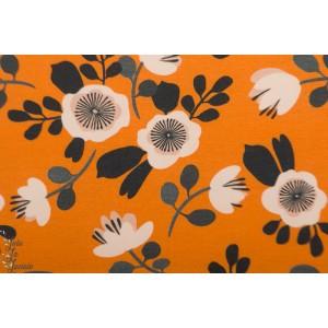 Jersey Flowers Orange