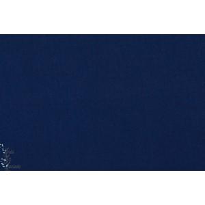 tissu coton uni Popeline Soft cactus Bleu Foncé marine