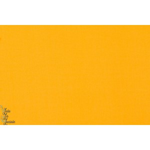 tissu coton uni Popeline Soft Cactus Jaune foncé