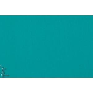tissu coton Popeline Unie Soft cactus Turquoise bleu vert