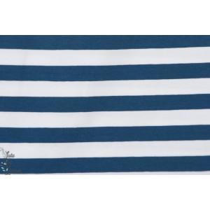 Jersey Bio ALB Ahoy - SAILOR STRIPES - Hamburger Liebe Bleu Atlantique et blanc