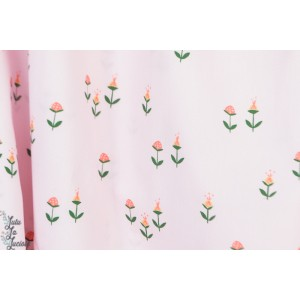 Popeline Clover Pink from Vintage 74  By Monaluna Fabrics