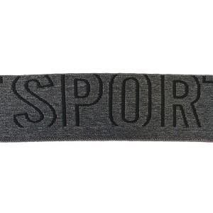 Elastique ceinture   50mm noir sport par 10cm