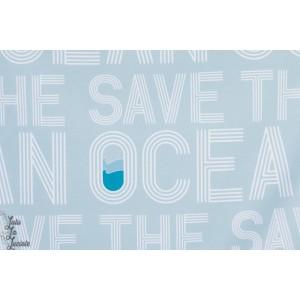 Jersey bio Ocean, weiß- graublau  Lillestoff