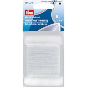 Ruban biais d'entoilage, 12mm, blanc, 5m 968220