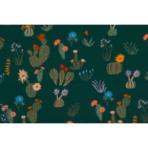 Popeline Bio PRICKLY FLORALS from ARID WILDERNESS BY LOUISE CUNNINGHAM - Cloud9