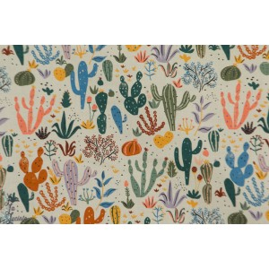 Popeline Bio CACTI AND SUCCULENTS from ARID WILDERNESS BY LOUISE CUNNINGHAM - Cloud9