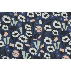 rayon  Organic Meadow Blue -by  ELIZABETH OLWEN pour Cloud9