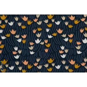 rayon  Organic Tulip Navy -by  ELIZABETH OLWEN pour Cloud9