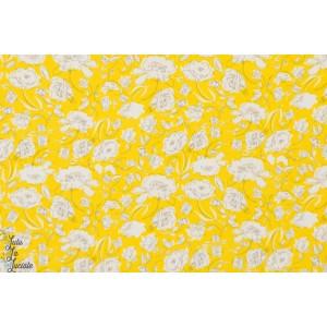 Popeline AGF Floraison jaune