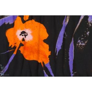 Viscose  orange poppy
