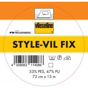 Entoilage Style-Vil fix blanc 72cm VLieseline mousse thermocolant