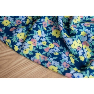 Viscose – Blue garden Lise Tailor