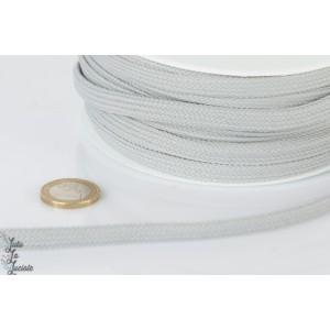 Cordon capuche plat 10 mm au mètre gris