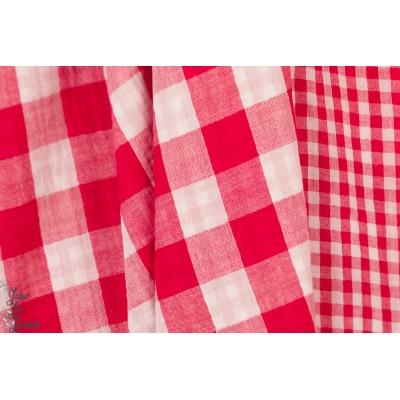 Double Gaze  Poppy checks double face rouge et blanc