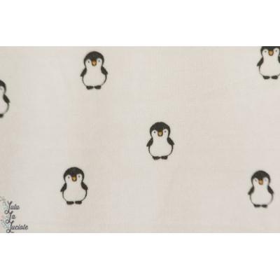 Velours minky ras sweet Penguin Poppy