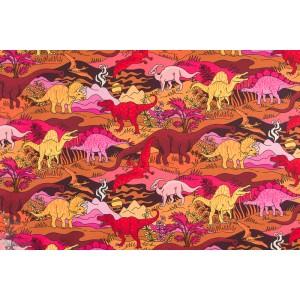 Jersey Vintage in my heart cesars Dinosaurs brown/orange/pink