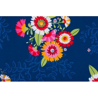 Jersey Bio Letzia lillestoff fleur été bleu femme