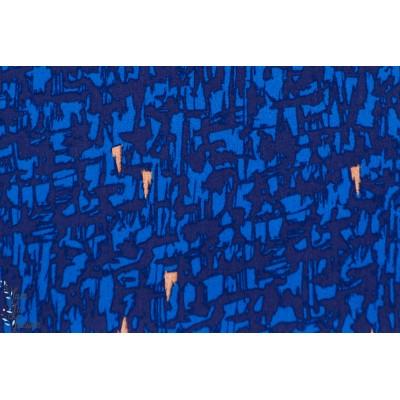 Viscose rayon soft cactus ,See You at Six  Strokes  Bleu Foncé