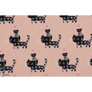 Jersey STENZO Pyramide de CHATS bio rose fille animaux couture