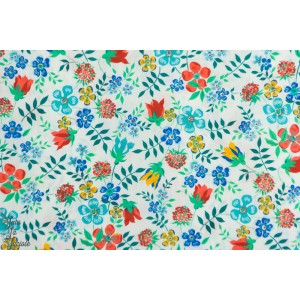 Liberty EDENHAM fond Blanc fleur batisie tana lawn liberty of london