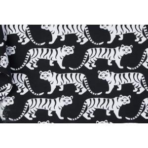 Jersey Bio Tigers black - tigre géométrique paapii couture garçon