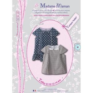 Patron couture top enfant fille  Tunique ADELE 8 à 14 ans madame maman