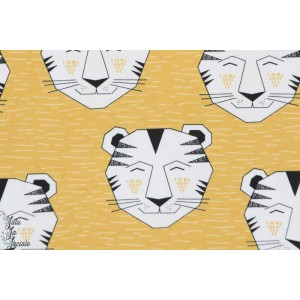 Jersey Bio Tiger Gold tigre moutarde Elvelyckan Design